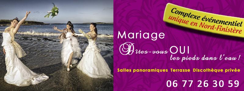 Location de salle pour mariage Brest - Les terrasses de l'Aber Saint Pabu