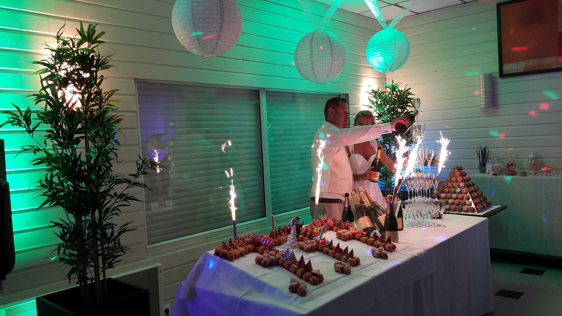 salle de mariage brest fontaine champagne desserts