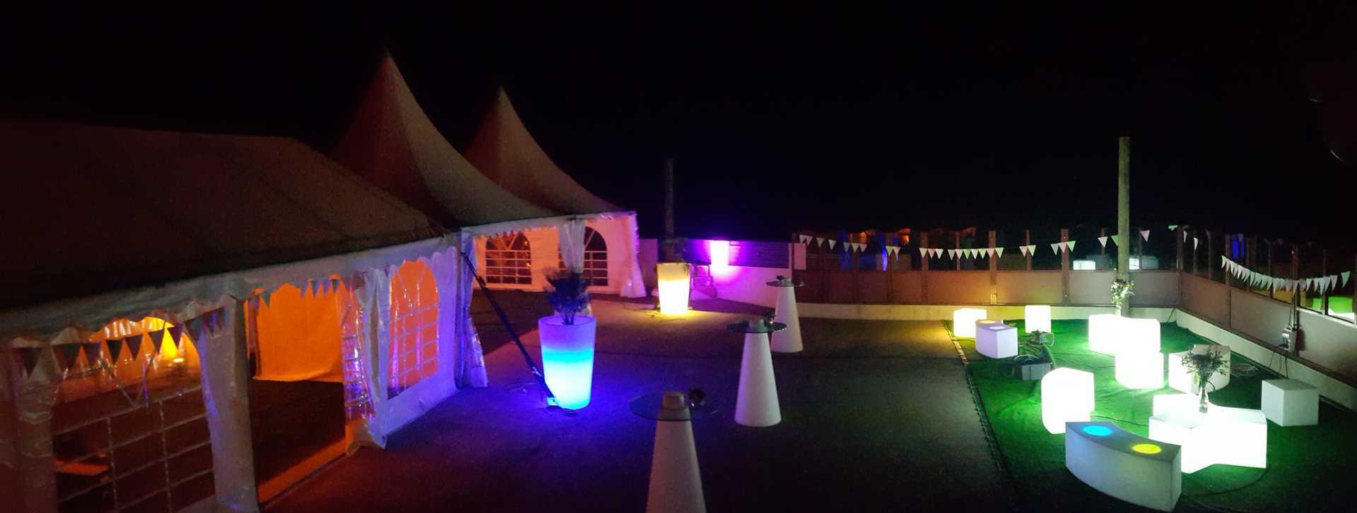 salle de mariage brest terrasse lumières