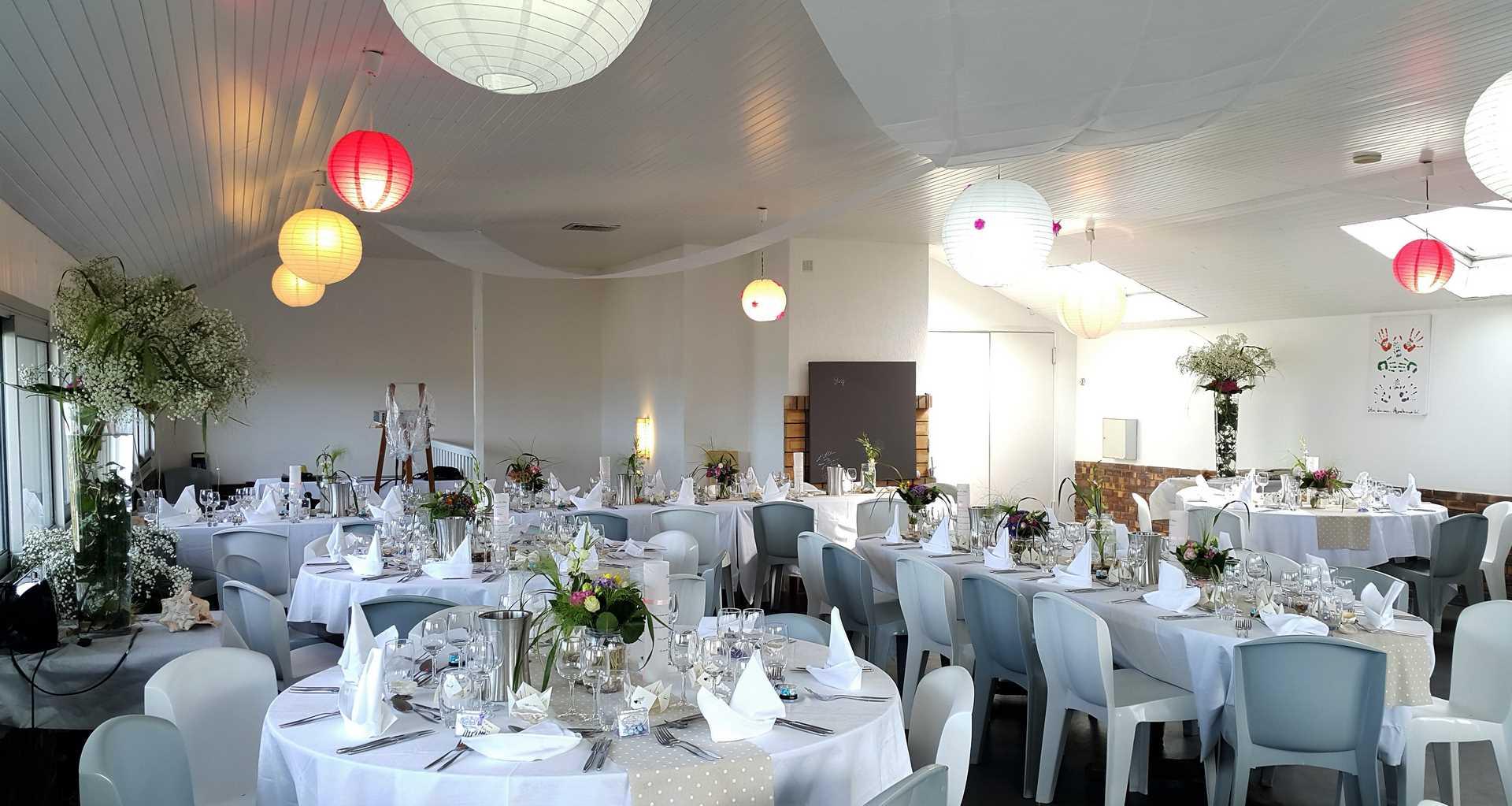 salle de mariage brest réception tables