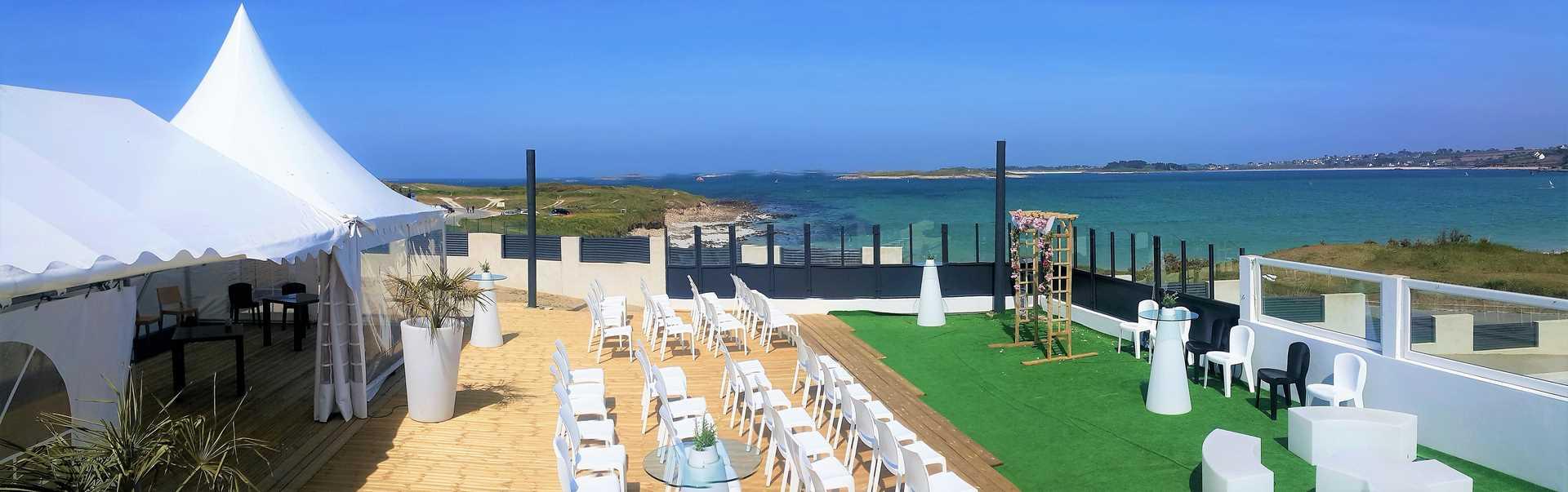 salle de mariage terrasse vue mer barnum